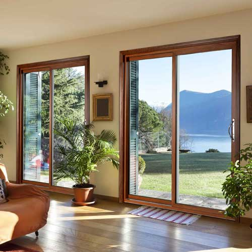 4400 Series Wood Interior Sliding Glass Vinyl Door
